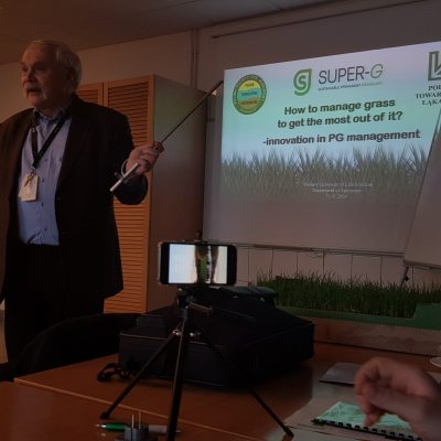 "Seminar: ""How to manage grass to get the most out of it? – innovation in PG management"" 