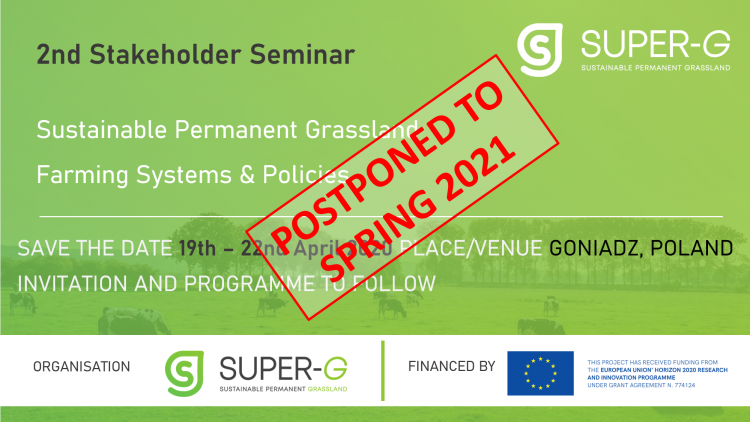 2nd Stakeholder Seminar Postponed to Spring 2021