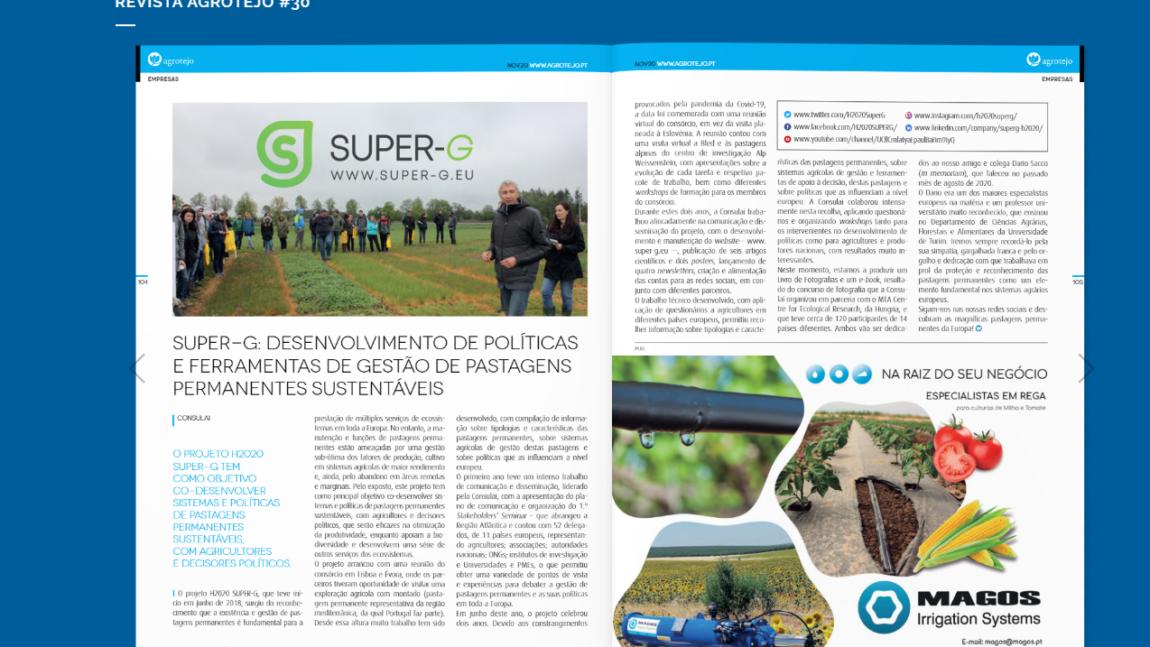 Super-G article on AGROTEJO annual magazine
