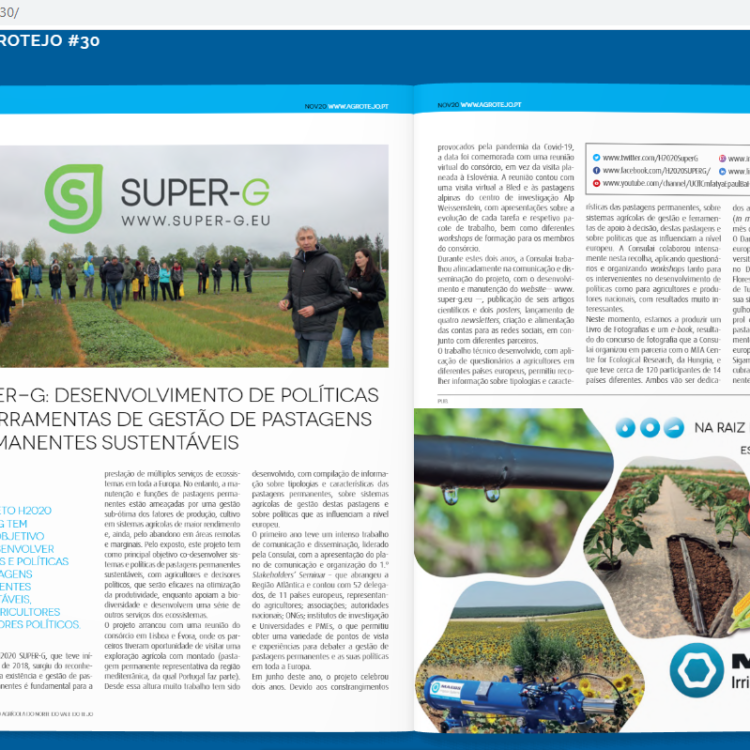 Super-G article on AGROTEJO annual magazine
