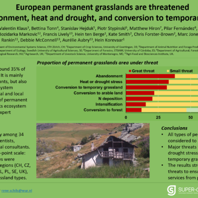 SUPER-G poster on threats to permanent grasslands presented at EGF meeting